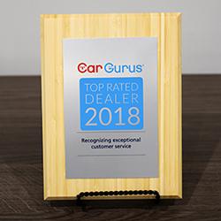 Car Gurus Top Rated Dealer Award Recipient