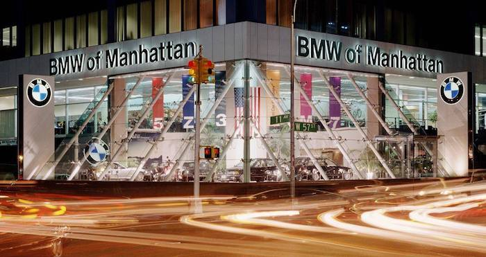 BMW of Manhattan and MINI of Manhattan store fronts