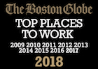 The Boston Globe Top Places to Work Nine Year Running</p>