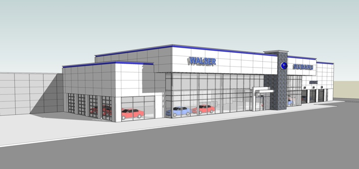 Computer rendering of the Subaru St. Paul dealership